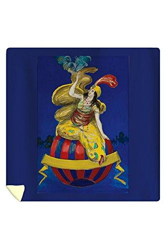 Arabian Cigarette maquette Vintage Poster (artist: Cappiello, Leonetto) France (88x88 Queen Microfiber Duvet Cover) by Lantern Press