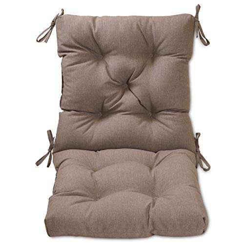 Amazon Com Overstock Tufted Outdoor Chair Cushion Taupe Garden