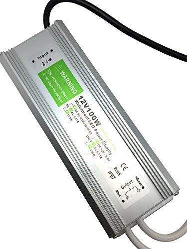 - Pearlight DC 12v adapter,LED Power Supply Driver Transformer IP67 Waterproof 100w Suitable for LED lighting LED Strip Light ,LED Module and Power Accessories
