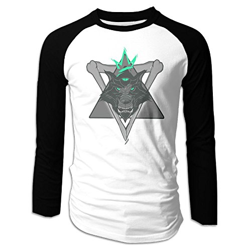 RT-rock Wolf Dog 05.PNG Customize Your Long-Sleeved T-Shirt White XXL (Customize Shirts Dog)
