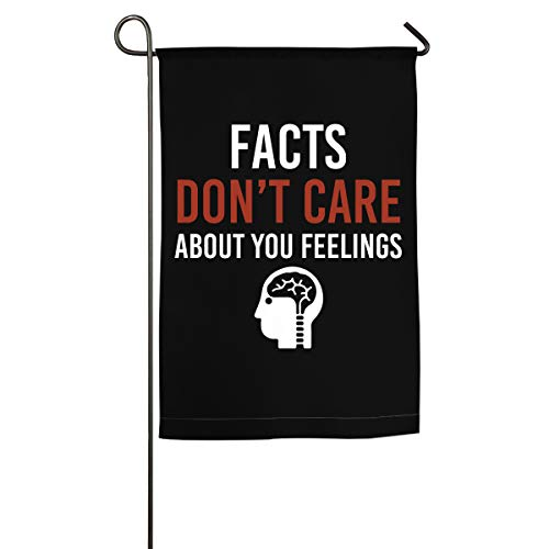 Seasonal Garden Flag for Outdoors, Facts Don't Care About Your Feelings Yard Flags   Durable, -