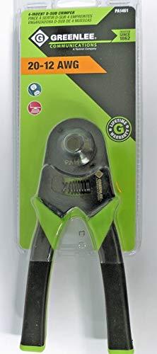 Greenlee Pa1461 Pro-Grip Crimper, 4-Indent D-Sub, 20-12A (52055944) ()