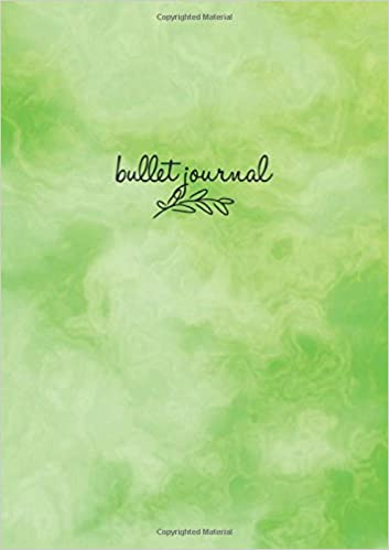 Bullet Journal: Marble Green Notizbuch A5 Dotted: Bullet ...