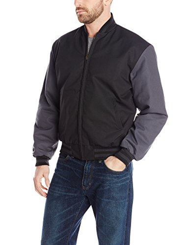 Red Kap Men's Duo-Tone Team Jacket, Black/Charcoal, X-Large (Color Team Jacket)