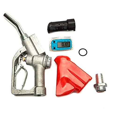 Digital Fuel Oil Gasoline Nozzle Gun Fuel Delivery Gun Diesel Petrol Oil Delivery Gun Diesel Petrol Oil Nozzle Dispenser BSPT with Flow Meter
