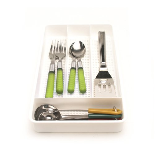 "Cutlery Tray - Single (White) (1 1/2""H x 12""L x 7""W) (1, A)"