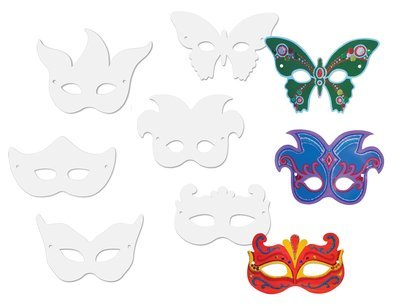 Mask To (Creativity Street Die Cut Mardi Gras Paper Masks, Assorted Designs, 24 Pack (AC4651))