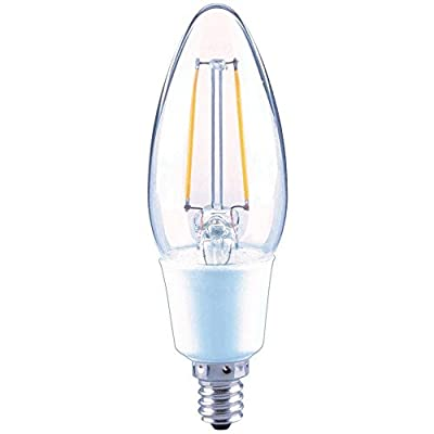 EcoSmart 40W Equivalent Soft White B11 E12 Vintage Style Filament Dimmable LED Light Bulb