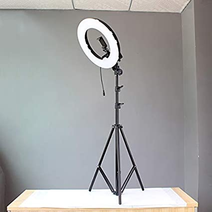 HULYZLB LED Ring Light18//48CM Dimmable LED Ring Light with Stand YouTube//Video Shooting Camera Photo Video Lightning Kit 5500K