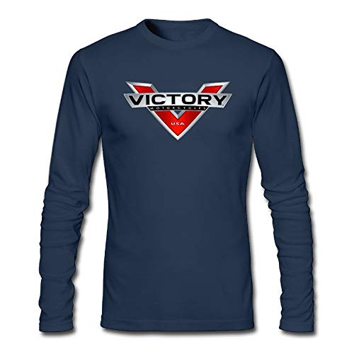 GODWARDWELL Victory Motorcycle Logo Long Sleeve T Shirts for Mens&Womens Navy X-Large -Fashion in 2018