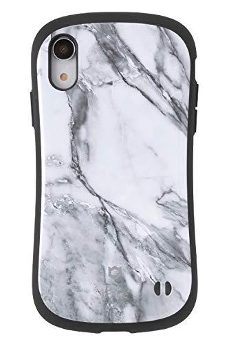 小説家カード百年iFace First Class Marble iPhone XR ケース [ホワイト]