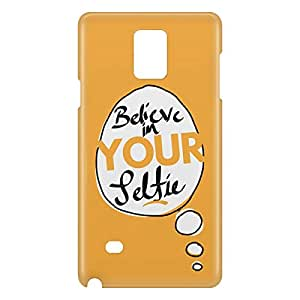 Loud Universe Samsung Galaxy Note 4 3D Wrap Around Believe In Your Selfie Print Cover - Yellow