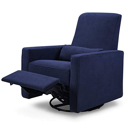 DaVinci Piper Upholstered Recliner and Swivel Glider, Navy