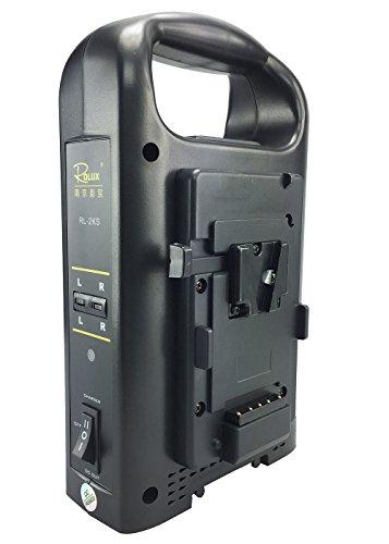 ePhoto 2 Channels V mount V Lock Li-ion battery Charger Power Supply RL-2KS by ePhotoinc