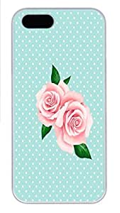 IPhone 5/5S Case Rose HAC1014435 PC Hard Plastic Case for iPhone 5/5S Whtie