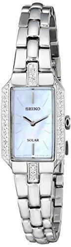 Seiko Women's SUP233 Dress Solar Analog Display Japanese Quartz Silver Watch