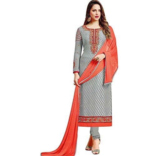 Ladyline Designer Georgette Brasso Embroidered Salwar Kameez Suit Indian