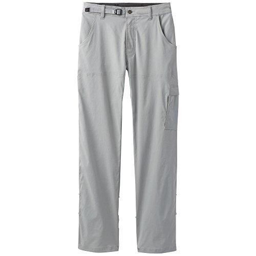 prAna Men's Stretch Zion Inseam Pants, Grey, Size 30