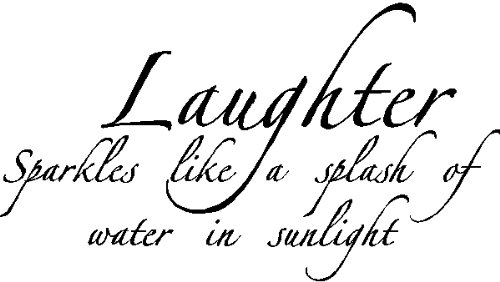 Laughter Sparkles...Wall Quotes Words Sayings Removable Vinyl Lettering, BLACK