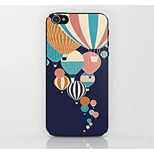 GOG- Blue Hot Air Balloon Pattern Hard Case for iPhone 4/4S