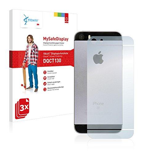 3x Vikuiti Pellicola Protettiva DQCT130 da 3M per Apple iPhone SE Posteriore (intera superficie)