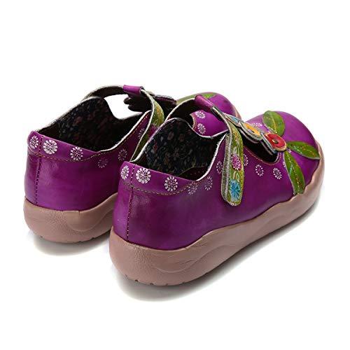 Violet Fleur Plates Dcontractes Jane En Rtro Cuir Mary Chaussures Seraph Plates pvxBRw6vq