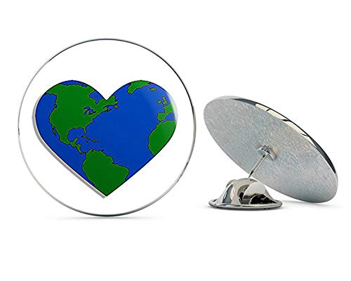 (NYC Jewelers Heart Shaped Earth (Green Climate Love Day) Metal 0.75