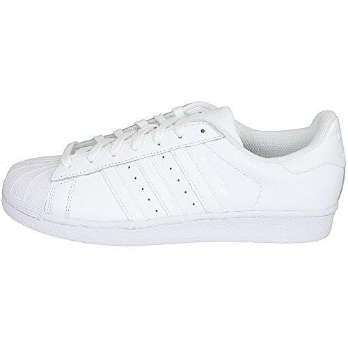adidas Superstar Foundation Unisex Zapatillas Trainer b27136 blanco/blanco