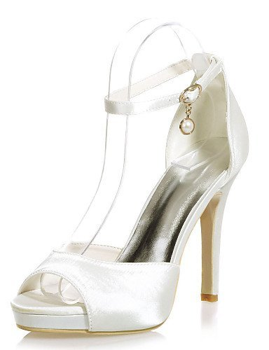 ShangYi Wedding Sandals Heel Ivory Toe Shoes Stiletto Colors Party Wedding Women's amp; Satin Open More Shoes available Evening rFrq8