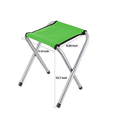 YongTong 2-Pack Folding Camping Stool, Lightweight Portable Sturdy Camping Chair for Outdoor Picnic Fishing Hiking and Backpacking, Compact Traveling Little Stool ( 11.8