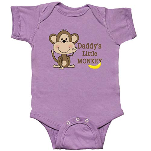 (inktastic - Daddy's Little Monkey Infant Creeper 12 Months Lavender 10e27)