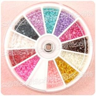 (1680 X 2.0mm Nail ART TIP Half Round Baby Pearl Decoration Wheel by UniqStore-Nail Art)