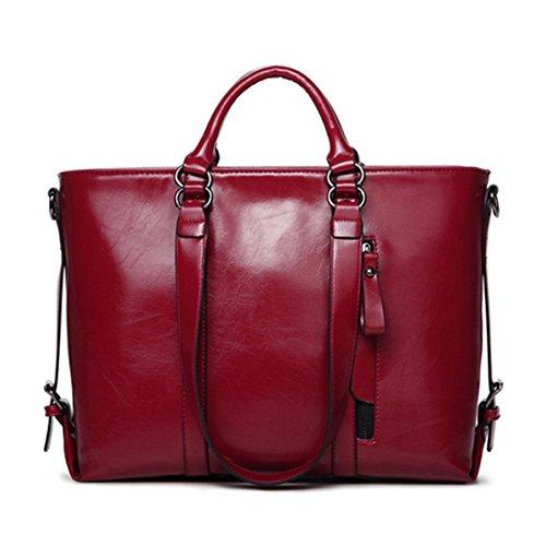 A Red Donna Tempo Per Tracolla Wine Borsa Libero Minimalista Joseko Il Moda SqWg4xB