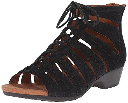 (Rockport Cobb Hill Women's Gabby-CH Heeled Sandal, Black, 11 M US)