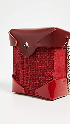 Bag Micro MANU Atelier Red Chain Gold Box with Pristine Women's X1gRRqH