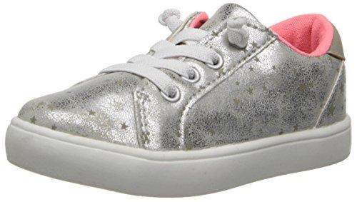 carter's Olivia Sneaker (Toddler/Little Kid/Big Kid),Grey/Silver,9 M US Toddler