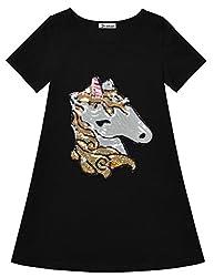 Soft Unicorn Sequin Cotton T-Shirt