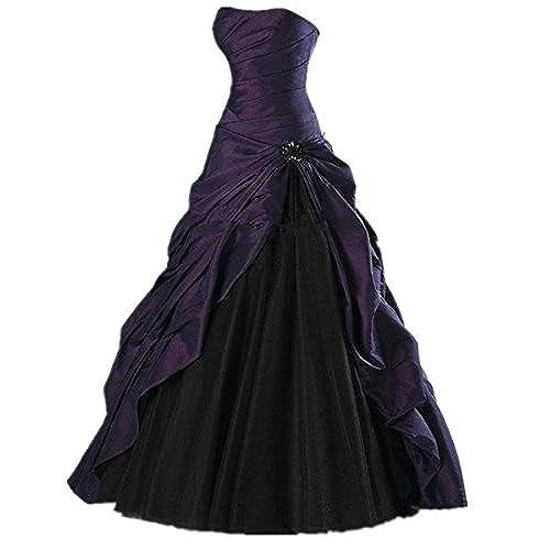 Purple And Black Wedding Dress: Amazon.com