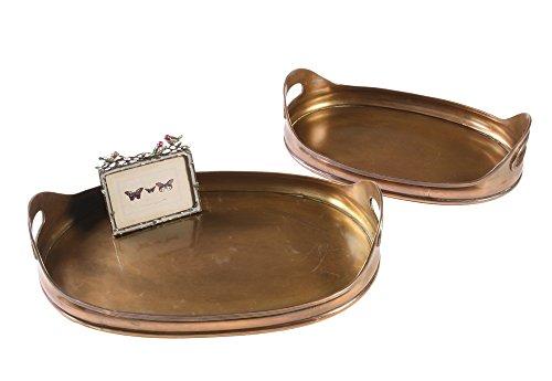 Creative Co-OP Antique Copper Tray Set