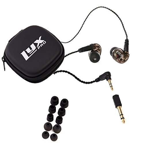 LyxPro ERP-10 In-Ear Monitor Studio Grade Earphones Detachable Cable 3 Sizes Interchangeable (Ear Isolator)