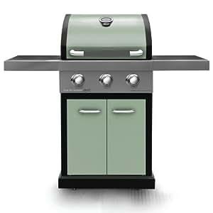 Jamie Oliver 3quemador Pro 3barbacoa con quemador lateral, verde