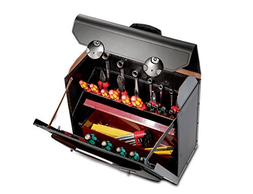 Top-Line 18.500.581 Tool Case with Wheels and Middle Wall by Topline