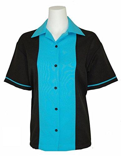 BeRetro Classic 50's Womens Retro Bowling Shirt Classic 50's - 5 Colors (Bowling Shirt Classic)