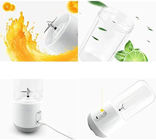 SCSBZ Blender portátil, Personal Tamaño Licuadoras Batidos y Batidos, USB portátil de Frutas máquina mezcladora Rchargeable Exprimidor Copa, Hielo Blender Mixer Inicio