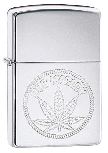 Custom Personalized High Polish Chrome Windproof Lighter Bob Marley- Free Engraving # 29769