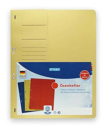 Ablage-Schnellhefter 10 /Ösenhefter gelb Farbe A4