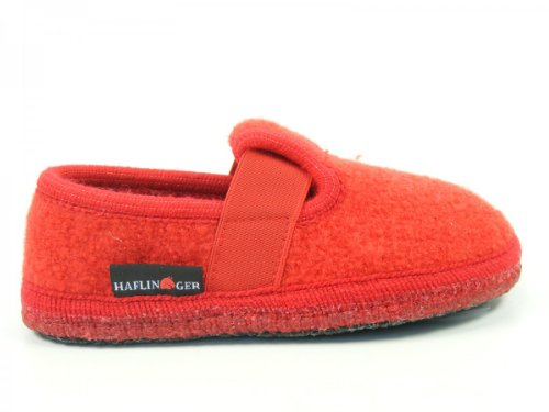 Joschi Haflinger Slipper Shoes Rot Indoor Unisex 5qf1xqT