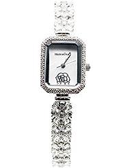 Fashion Women Wristwatch 925 Sterling Silver Topaz Gemstone Watch