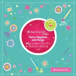 Bulk Buy: American Girl Napkins And Rings (3-Pack)