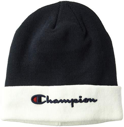 Champion LIFE Men's Script Beanie, Navy/White, OS